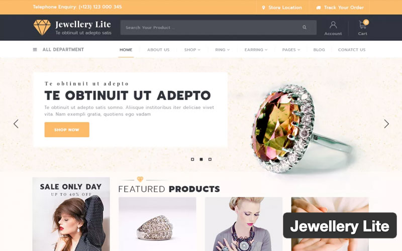 Jewellery Lite Woocommerce