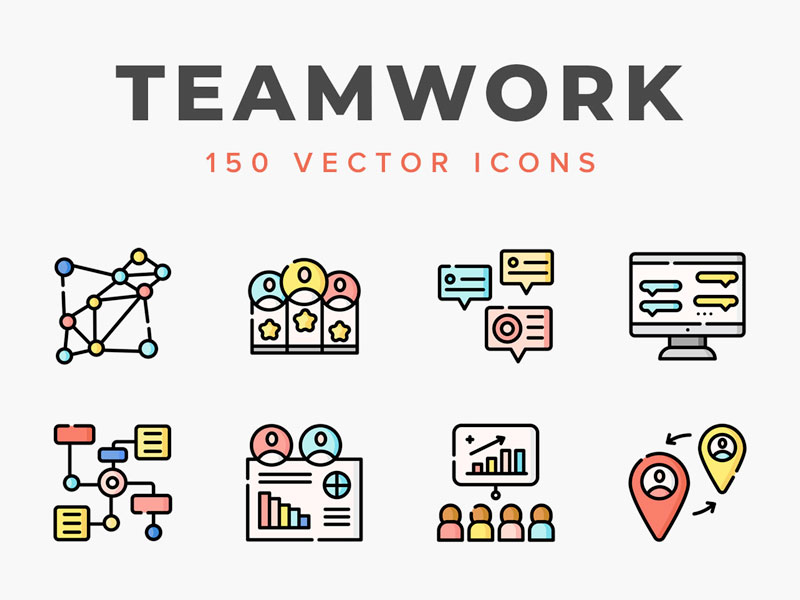 Teamwork Free Vector Icons