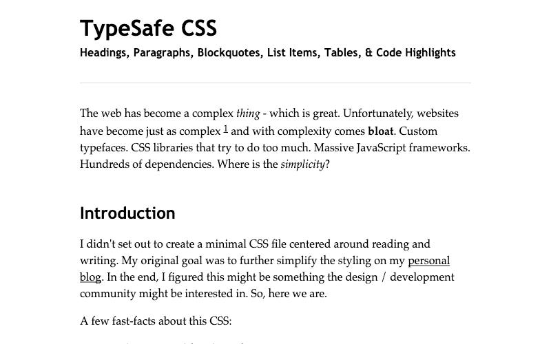 Typesafe Css