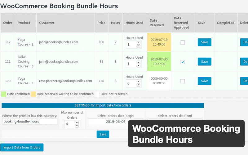 Woocommerce Booking Bundle Hours