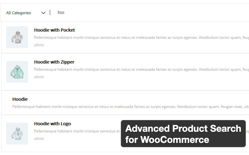 Advanced Product Search For Woocommerce