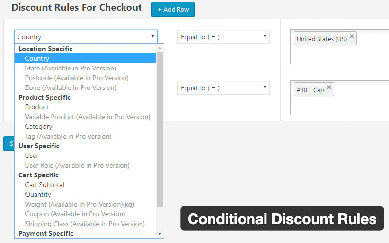 Conditional Discount Rules For Woocommerce Checkout