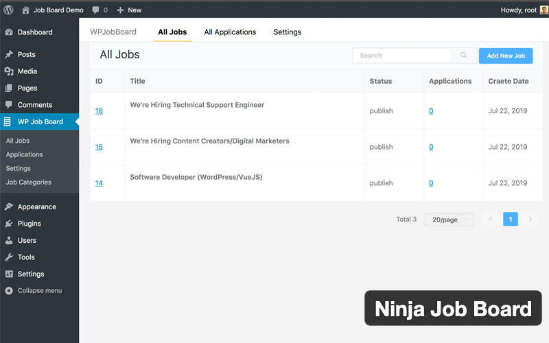 Ninja Job Board Ultimate WordPress Job Board Plugin