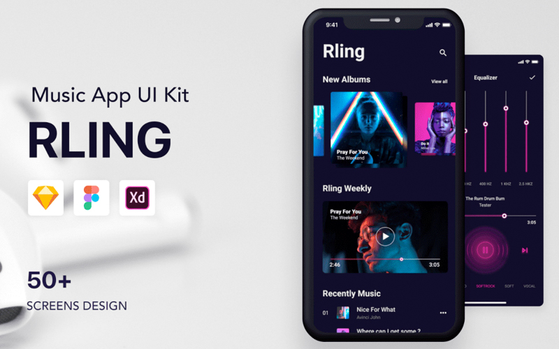 Rling Music App Ios Ui Kit