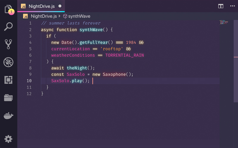 Synthwave 84 Vs Code Theme