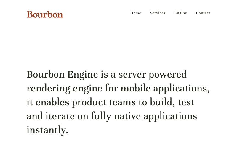 Bourbon Engine