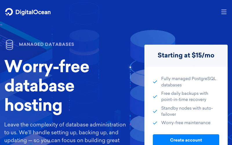 Digital Ocean Managed Databases