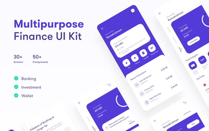 Multipurpose Finance Ui Kit