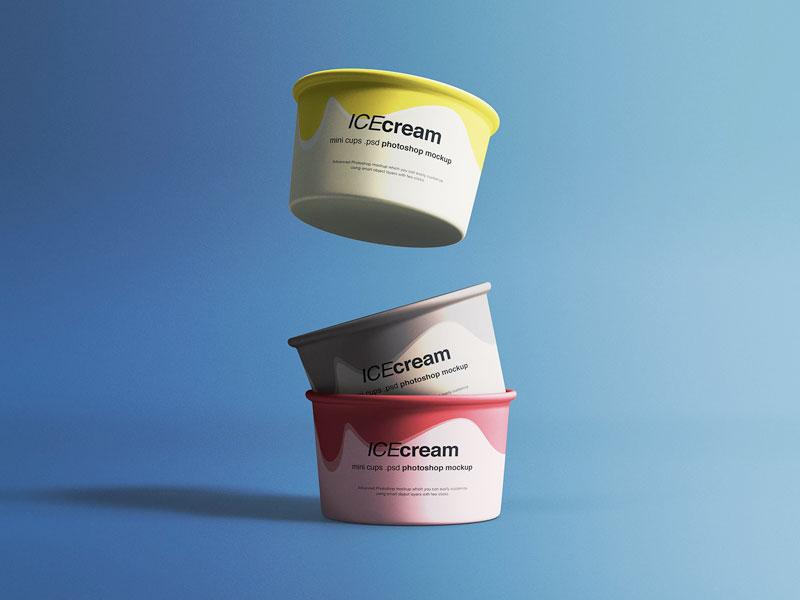 Ice Cream Cups Mockup