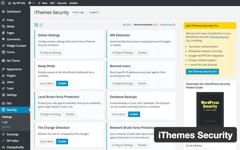 Ithemes Security Which Was Formerly Better Wp Security