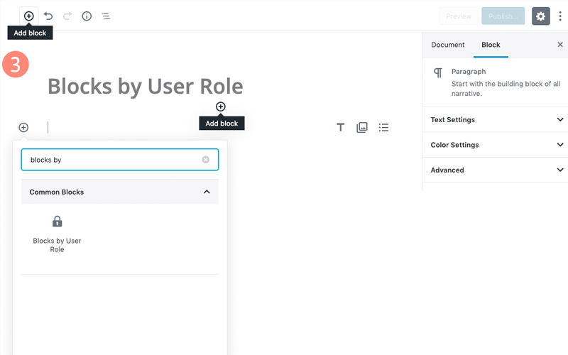 Blocks By User Role For WordPress