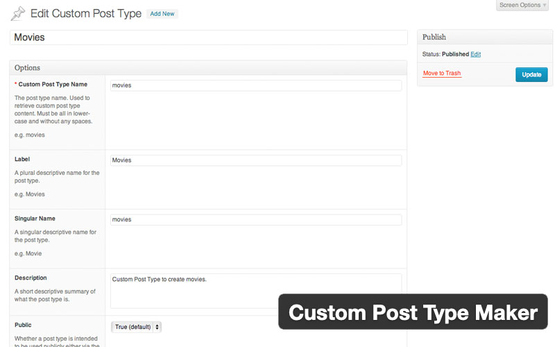 Custom Post Type Maker