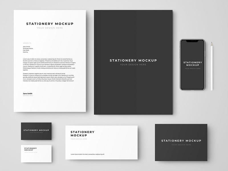 Stationery And Branding Set Mockup