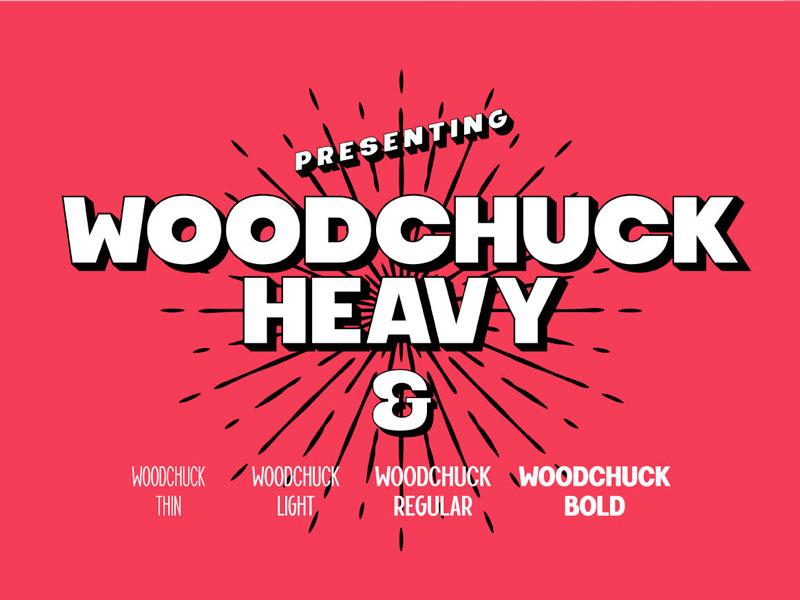Woodchuck Modern Font