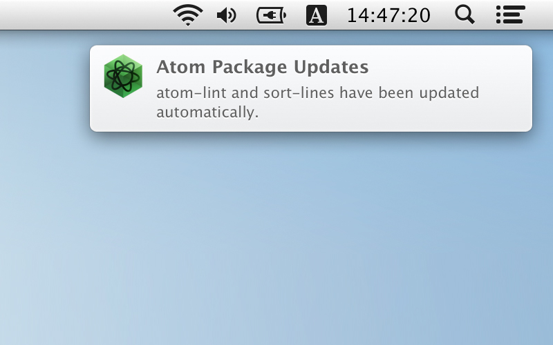 Auto Update Packages For Atom