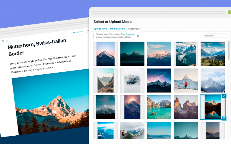 Stockpack Stock Images In WordPress