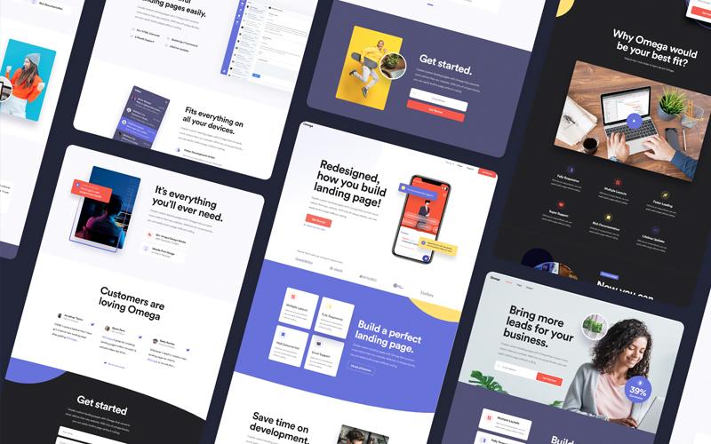 Omega Landing Page Design Template