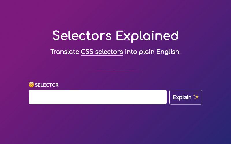 Selectors Explained