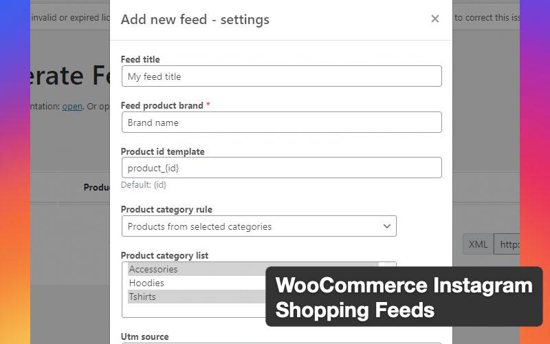 Woocommerce Instagram Shopping Feeds