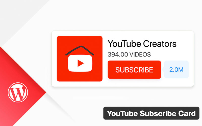 Youtube Subscribe Card For WordPress