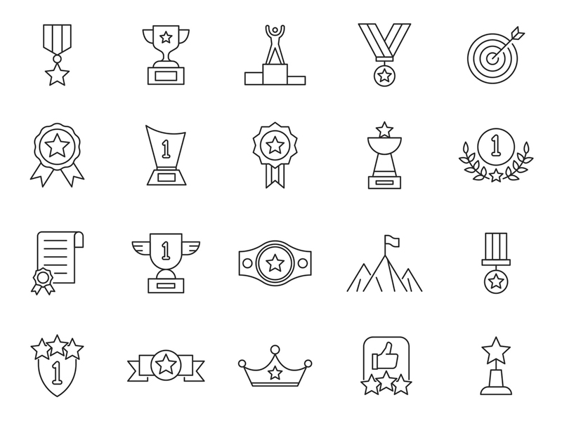 20 Achievement Vector Icons
