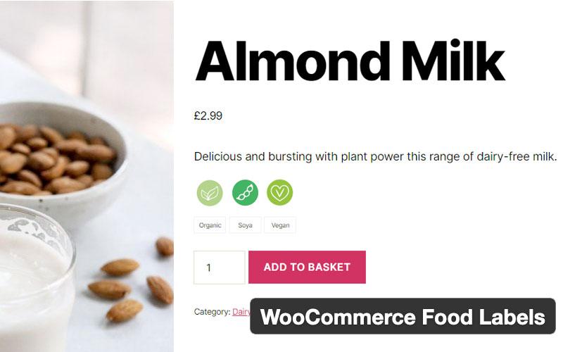 Woocommerce Food Labels