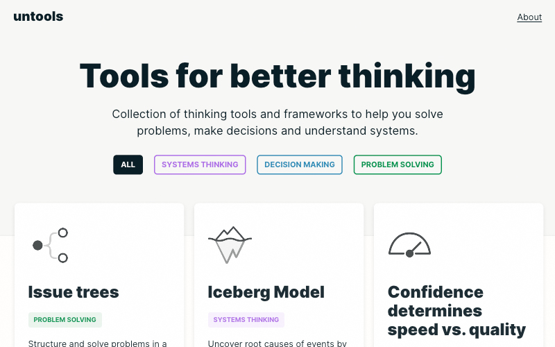 Untools Tools For Better Thinking
