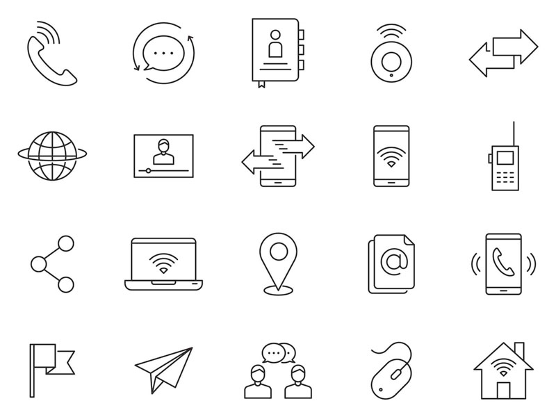 80 Communication Vector Icons