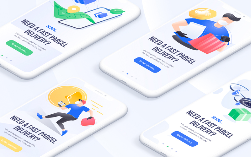 Delivery Illustration Pack Web & Mobile Ui Kit