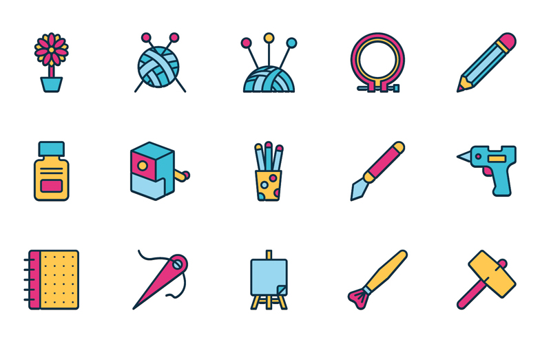 Arts And Crafts Icons Pack