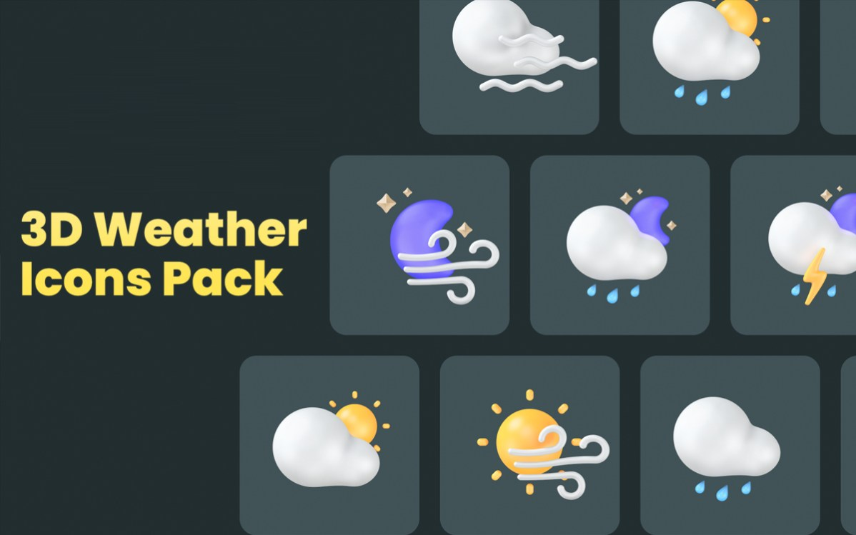 3d Weather Icons Pack