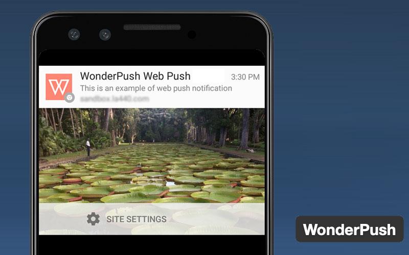 Wonderpush Push Notification Plugin
