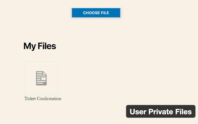 User Private Files