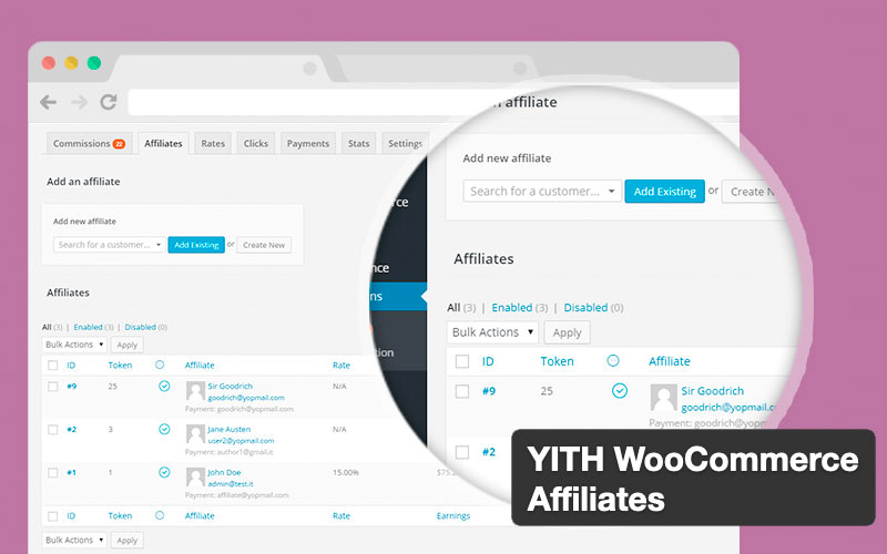 Yith Woocommerce Affiliates