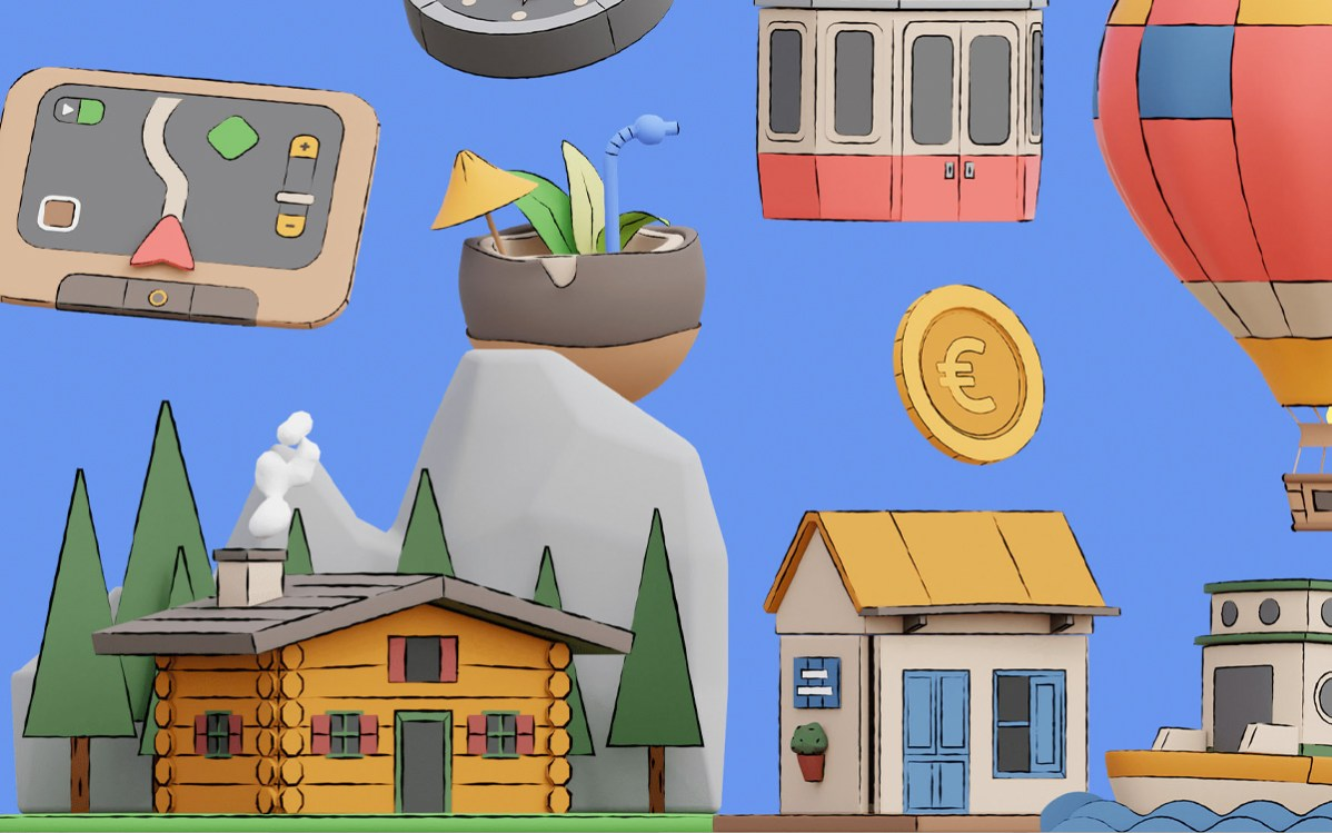 Hop! Travel 3d Animated Pack