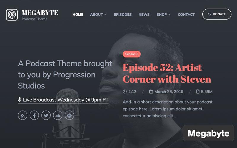Megabyte WordPress Podcast Theme