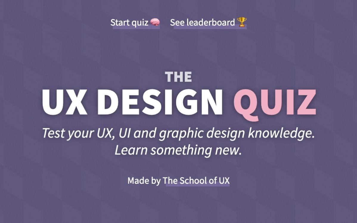 The Ux Design Quiz