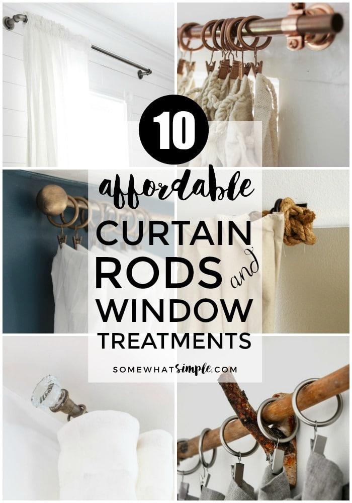 10 diy curtain rods window treatments