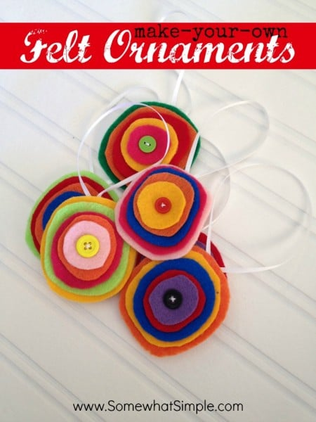 how to make felt ornaments by Somewhat Simple