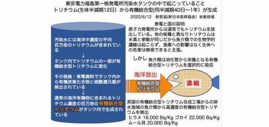 トリチウム問題ー2021年放射能汚染水海洋放出の撤回を求める