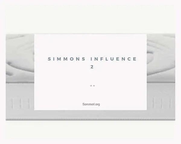 Matelas Simmons Influence 2 Avis Et Test De Ce Matelas Equilibre
