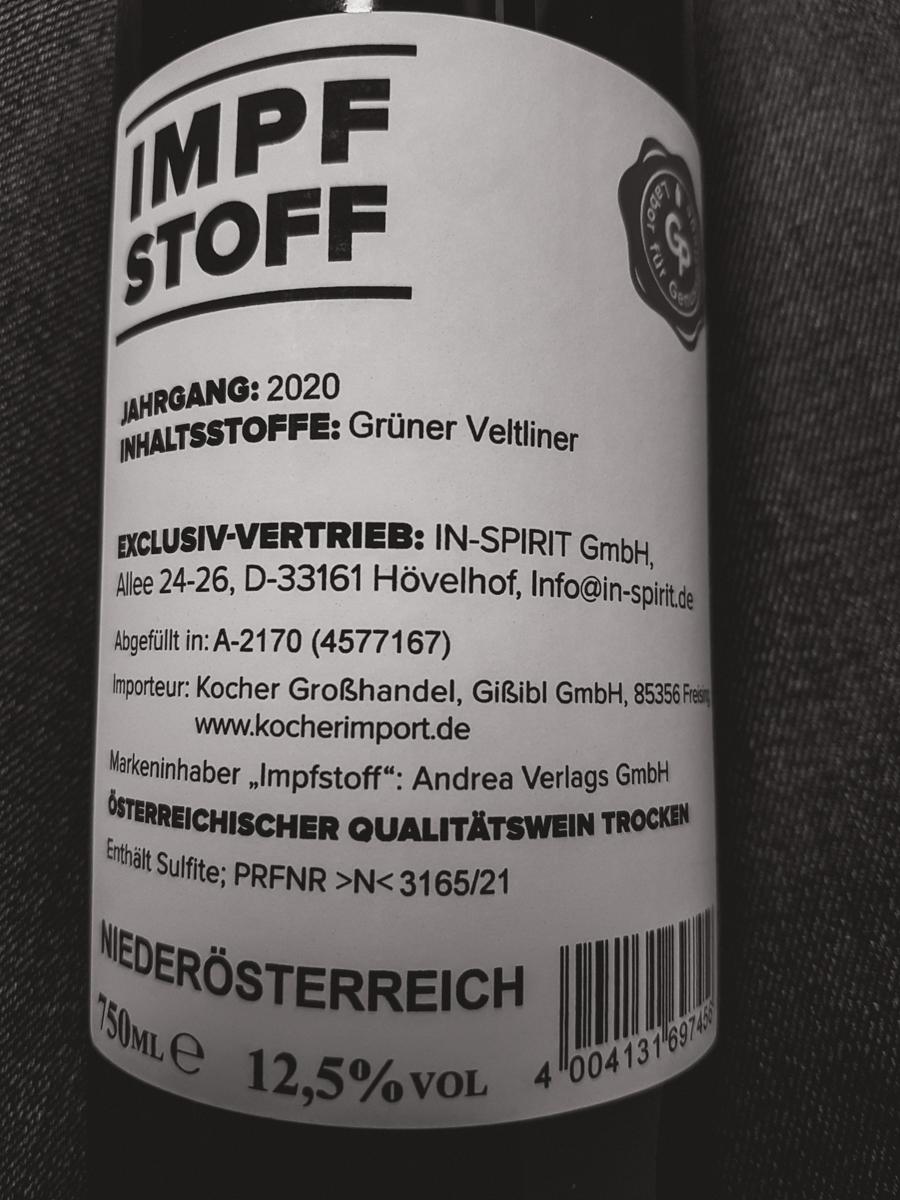 Impfstoff Wein 750 ml