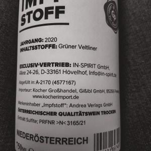 Impfstoff Weißwein trocken QbA 0,75l