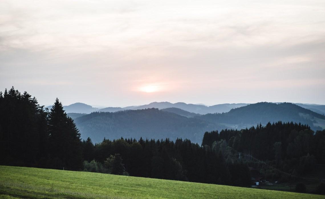 Sonnenuntergang Mühlviertel