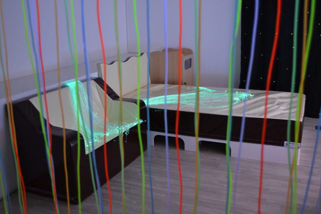 lit à eau et fibre optiques