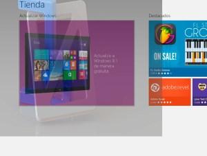 Mensaje de actualización a Windows 8.1