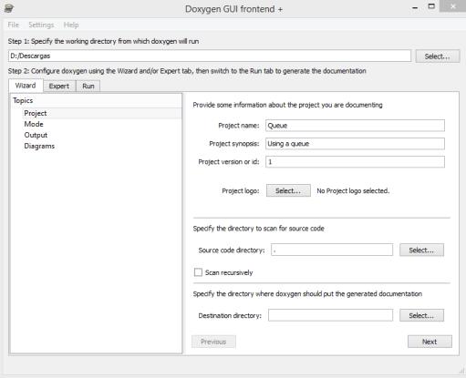 Configurando Doxygen
