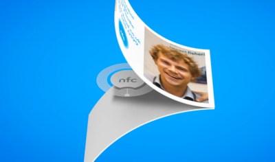 tarjeta de visita con NFC