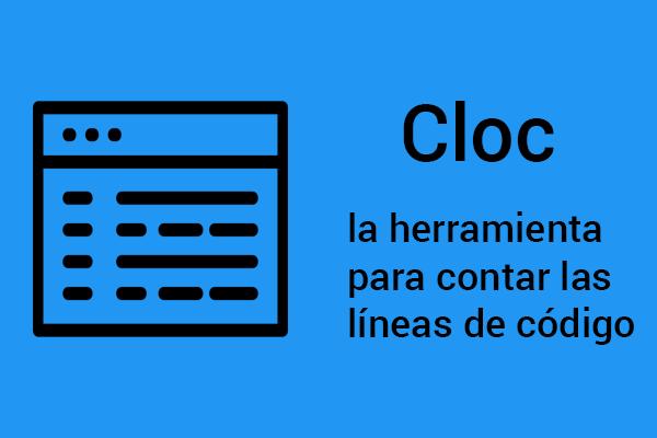Cloc la herramienta para contar las líneas de código