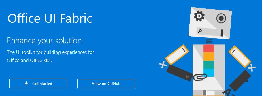 Office UI Fabric la liberia de desarrollo web basada en Office